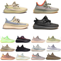 Kanye West Running Chaussures de course gris Black Black Cloud Black Tail Feu en queue de réflexion Baskets en lin Zyon Baskets avec boîte