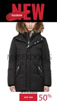 New Mens winter coats Canada Parkas Outerwear Hooded Manteau Slim big real fur Down Jacket Coat