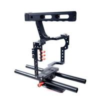 FREESHIPPING Commlite CS-V5 DSLR خفض 15mm رود تزوير كاميرا فيديو قفص كيت + الأعلى مقبض لسوني A7 II A7r A7S بنتاكس أوليمبوس كاميرات