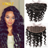 Lace Frontal Closure 8A Brazilian Loose Wave Curly Ear To Ea...