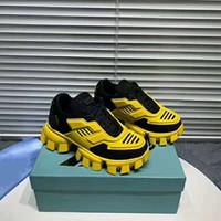 Nuevos zapatos de diseñador de moda Cloudbust Thunder Low Top Malla al aire libre Hombres Mujeres Altura creciente Zapatos de suela negra Zapatos casuales azules Tamaño 35-46
