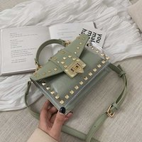 Retro Rivet Transparent Pvc Jelly Women Handbags Casual Wome...