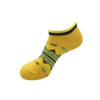 Verão Mens Mulheres Amarelo Cor Curta Sock Cutton Blend Confortável Adolescentes Socks Meias Activas MeS Mens Underwear