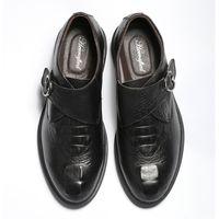 Größe 36 ~ 49 Vollkorn-Leder-Männer kleiden Schuhe Arbeiten Sie bequeme Hecrafted Herren Schuhe