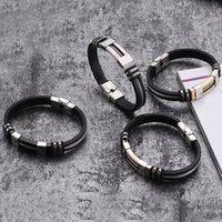 Moda- silicone preta pulseira de aço gracioso Alergia Livre 1PC 4 cores do casamento Hot Sale New Arrival 2018 Alta Qualidade