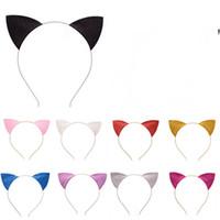 Orelhas de gato Headband ouvido bonito Adorável Glitter Cat Bandas Headwear Glitter Cabelo Headbands Chefe Hoop Fechos