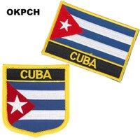 Kuba Stickerei Eisen auf Flag Aufnäher National Flag Patch für Kleidung DIY Dekoration PT0070-2