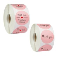 500pcs Roll Pink Thank You Stickers Thank You for Supporting...
