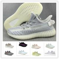 huge discount f7133 d3373 Nuevo Kanye west offesa V2 diseñador zapatillas niño verde sésamo estático  casual zapatos hombres y mujeres