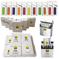 TKO 추출 Vape 카트리지 포장 0.8ml 1.0ml 화이트 블랙 팁 DAB 펜 왁스 기화기 두꺼운 오일 vape 카트 510 스레드