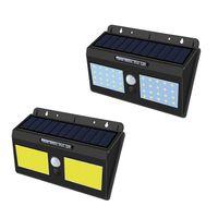 Lampe solaire LED mur lumière solaire Éclairage de sécurité extérieure Veilleuse détecteur de mouvement du capteur pour l'étape Jardin Porte arrière