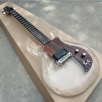 Nuova chitarra elettrica corpo acrilico di alta qualità, con pick-up in legno, 24 chitarra trasparente, foto reali, trasporto libero