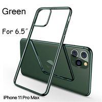 Зеленый телефон чехол для iPhone 11 Pro XS MAX XR XS 7P / 8P Iphone7 / 8 Iphone6 / 6sP 6 / 6s