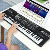 d42deeafec4 New Arrival. Electronic Organ Musical Toys 61 Keys Electronic Piano Keyboard  With Microphone For Boys Girls Toy Gift. US  37.19   Piece
