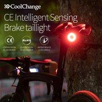 CoolChange الدراجة الذكية ضوء الفرامل الاستشعار الذكي للدراجات مصباح الضوء الخلفي MTB الطريق دراجة ملحقاتها ليلة ركوب الدراجة الخفيفة