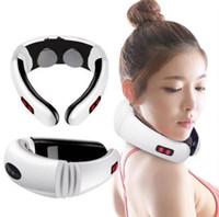 Elektrikli darbe geri ve boyun masajı uzak kızılötesi ısıtma ağrı kesici sağlık rahatlama aracı akıllı servikal masaj