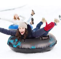 نفخ الثلج أنبوب مع الكبار التعامل مع الثلج تزلج دائرة عالية الجودة دائم الشتاء الرياضة في الهواء الطلق للأطفال سميكة تزلج الدائرة