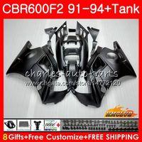 Body + Serbatoio per Honda CBR 600F2 CBR600FS CBR 600 FS F2 91 92 93 94 40HC.5 600cc CBR600 F2 CBR600F2 1991 1992 1993 1994 opaco carenatura nera