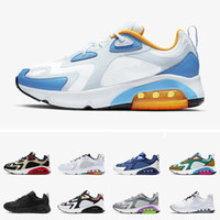 2019 Nike Air Max 200 Nueva llegada Marca 200 Mystic Green Hombres 200s Zapatos para correr Air Cool Grey University Blue 1992 World Stage Track Field Sneakers Zapatos