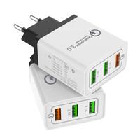 3 개의 항구 USB 벽 충전기 미국 EU 플러그 LED 접합기 충전기 이동 전화를위한 3 배 USB 항구를 가진 여행 편리한 휴대용 힘 접합기