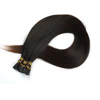 I İpucu İnsan Öncelikli Saç Uzantıları Saf Renk Sopa Ucu Düz Keratin Brezilyalı Remy İnsan Saç 1G / S 50G 16-26 inç