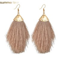 Bohemian Tassel Earrings For Women Vintage Ethnic Dangle Ear...