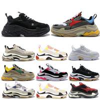 الجملة الثلاثي S رجل إمرأة مصمم أحذية باريس 17FW منخفضة قديم أبي حذاء رياضة الجمع نعال الأحذية الأزياء أعلى جودة قصر chaussure 36-45