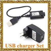 전자 담배 충전기 세트 USB 충전기 케이블 US / EU / EGO 전자 담배 EGO-CE4 / T / K에 대한 AU 벽 어댑터 / W