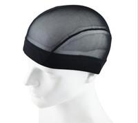 Tappo a tappo a maglia in rete a cupola Cappuccio nero Treeving tappi per tessitura elastica Nylon Mesh Rete per la realizzazione di parrucche Glueless Atchenet Liner 3 Taglie per scegliere