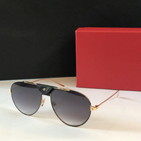 Mens Luxury Designer Marca Sunglasses Zonnebril Moda Designer de Ouro Óculos Piloto Óculos Piloto Aoko 2020 Novos Quadros Vintage 0038