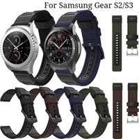 22mm 20mm Nylon Leather watch Strap For Samsung Gear S2 S3 F...