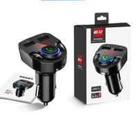 2020 블루투스 차량용 키트 핸즈프리 콜링 자동차 키트 무선 FM 송신기 자동차 MP3 플레이어 듀얼 USB 차량용 충전기 G32 BT17 BC06