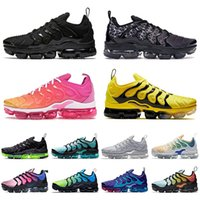 nike vapormax plus tn Original Vapors Plus-TN New Designer Kissen Mode Herren Tns Turnschuhe Breathable Ineinander greifen Schwarz Weiß Trainer Männer Laufschuhe Größe 36-45