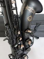 أفضل نوعية تينور ساكسفون صك اليابان سوزوكي مات الأسود الموسيقية المهنية اللعب تينور ساكس الشحن مجانا
