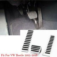 سيارة سبيكة مسرع الغاز الفرامل مسند دواسة لوحة لوحة الغلاف يصلح لVW بيتل 2012-2018