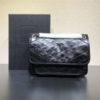 المرأة حقيبة يد من الجلد الحقيقي حقيبة pochette الأزياء الساخن المتوسطة الحجم عكس الطباعة CROSSBODY أكياس حقيبة الكتف ميتس مقبض حمل m40780 المحافظ