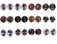 Orecchini esagerati modello testa africana orecchini in legno ragazza afro Orecchini vintage in legno per ragazza africana