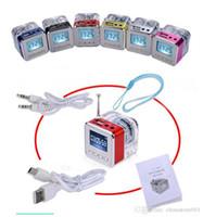 Mini Radio FM Altoparlante Beach esterna Micro SD USB MP3 di musica Player orologio altoparlanti dello schermo a LED di alta qualità