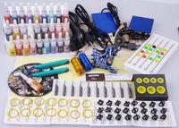 set di macchine professionali per tatuaggi completo di cassetta degli attrezzi potenza 20 colori interruttore per l'inchiostro aghi tip kit tatuaggio body artprofessionale completo t