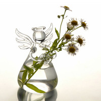 Beautiful Modern Cute Glass Angel Shape Flower Plant Hanging...