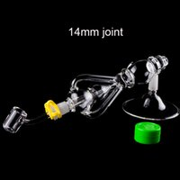 Delux Dab Rig Glass Water Bong Hand Pipes With 14mm Titanium...