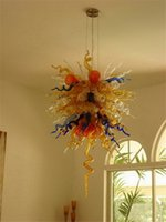 Роскошные Multicolor Рука выдувное стекло LED Люстра Подвеска Свет Чихули Европейский хрустальной люстрой Освещение из Китая