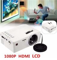 Proyector Video Proyector LED Proyector del teatro casero portátil UC18 HD 1080P 60 pulgadas Mini Cine con interfaz USB / AV / TF / HDMI
