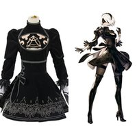 costume New NieR: Automata 2B Cosutme Uniform Dress Anime Halloween Costume Cosplay per le donne Custom Made
