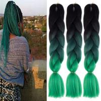 Синтетический Jumbo Косы волос 24 дюйма высокой температуры волокна Xpression Jumbo Ombre плетение волос 100г Магистральный плетение крючком волос