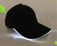 Gorras de béisbol LED Algodón Negro Blanco Brillante Gorras de bolas con luz LED Brillan en la oscuridad Sombreros ajustables Snapback Sombreros luminosos para fiestas DHL