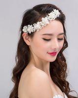Amerikaanse magazijn hoofdtooi kristal handgemaakte kralen bruid parel bloem bruiloft hoofdtooi sieraden trouwjurk haaraccessoires sieraden cadeau