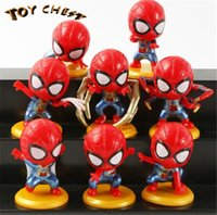 TOY CHEST Brand New Mini Cute Super Hero Cartoon Model Doll ...