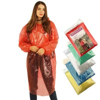 DHL 선박에서의 재고! 일회용 비옷 핫 처분 할 수있는 PE 레인 코트 일회용 판쵸 비옷 여행 레인 코트 레인 착용