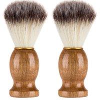 Мужчины бритья медведь кисти лучший барсук волос бритья деревянные ручка бритва парикмахерская косметика C0821